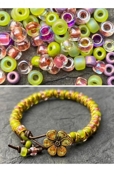 KIT Sweet Succulent Zig Zag Silver Celtic Bracelet DIY Easy Beginner No Tools Gold Silver Copper Green Pink Purple
