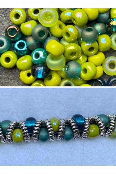 KIT Caribbean Picasso Zig Zag Silver Celtic Bracelet DIY Easy Gold Silver Copper Lime Green Teal Blue